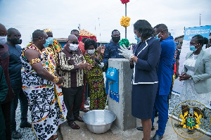Akufo-Addo opens 146 rural water systems