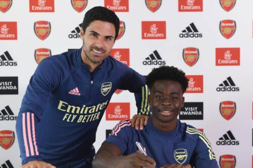 Saka Signs Four-year Arsenal Contract