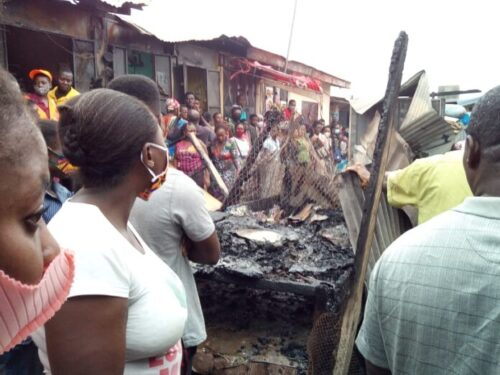 Fire Destroys Koforidua Market Centre