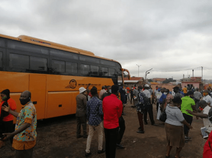 Kumasi Metro Mass terminal locked
