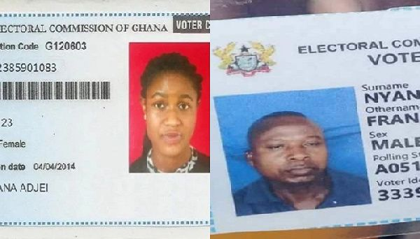 the old voters ID card and new voters card