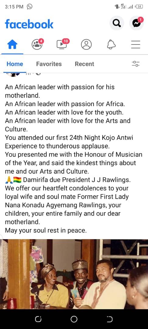 Kojo Antwi Lauds Rawlings