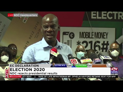 NDC Rejects 2020 Presidential Results