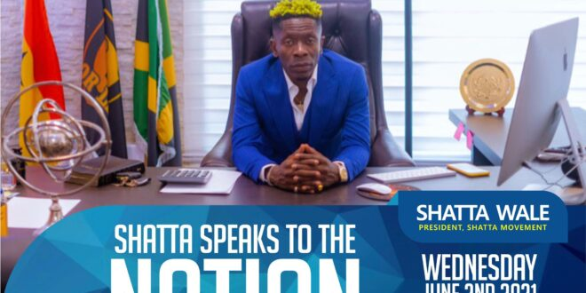 Shatta Wale Set To Address The Nation On Wednesday