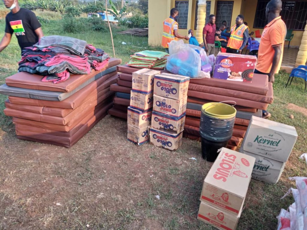 NADMO Donates To Victims Of Sankore Senior High School Fire Outbreak